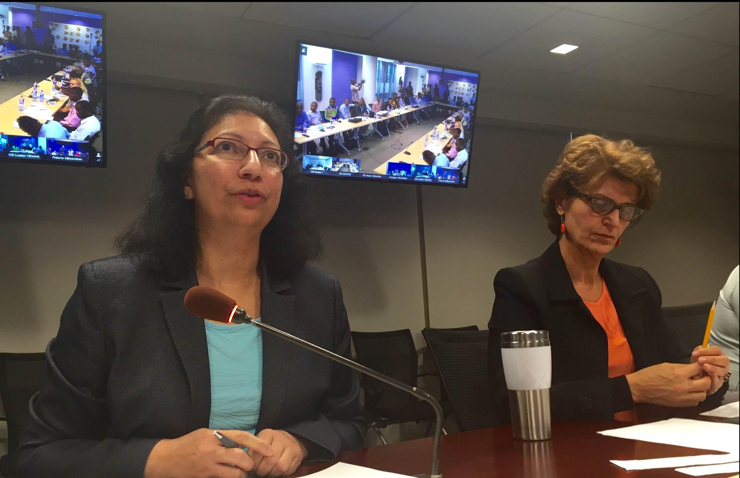 Punam Chuhan-Pole depuis le siège de la Banque mondiale à Washington a répondu aux question des journalistes.