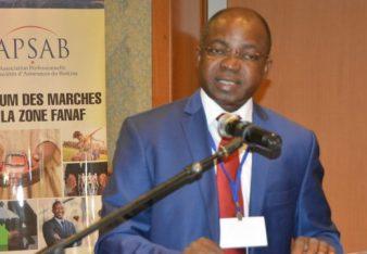 Simon Pierre Gouem président de l'Association professionnelle des sociétés d'assurances du Burkina (APSAB) - © Burkina 24