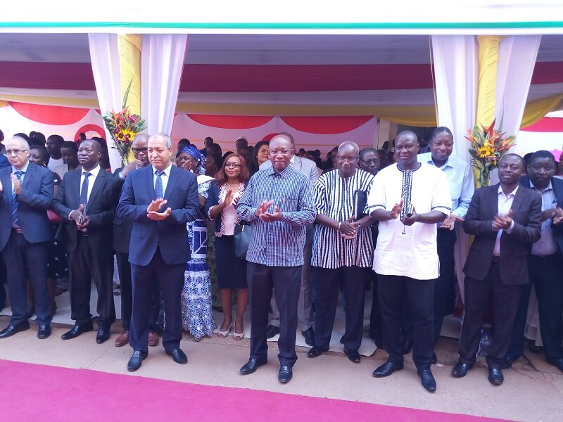 La cérémonie de lancement officiel entre Mobicash et SONABEL.