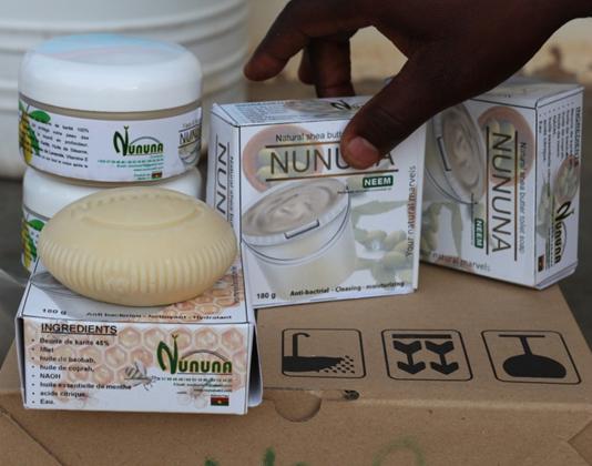 Diverses gammes de produits à base de beurre de karité