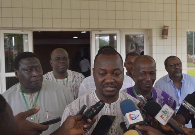 Le ministre en charge du commerce, Harouna Kaboré