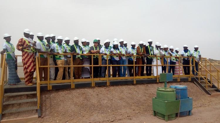La délégation du REPOCOM a visité les installations de la mine d'Essakane – B24