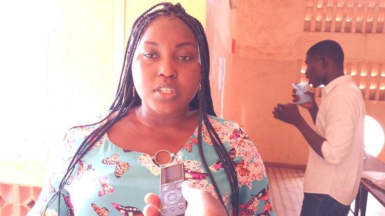 Olivia Tiendrébéogo, chargée de la communication à UCM-Burkina