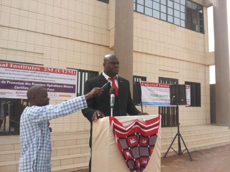 Le président de l'UI2M, Moumouni Séré envisage l'ouverture prochaine d'une filière santé, sécurité et environnement.