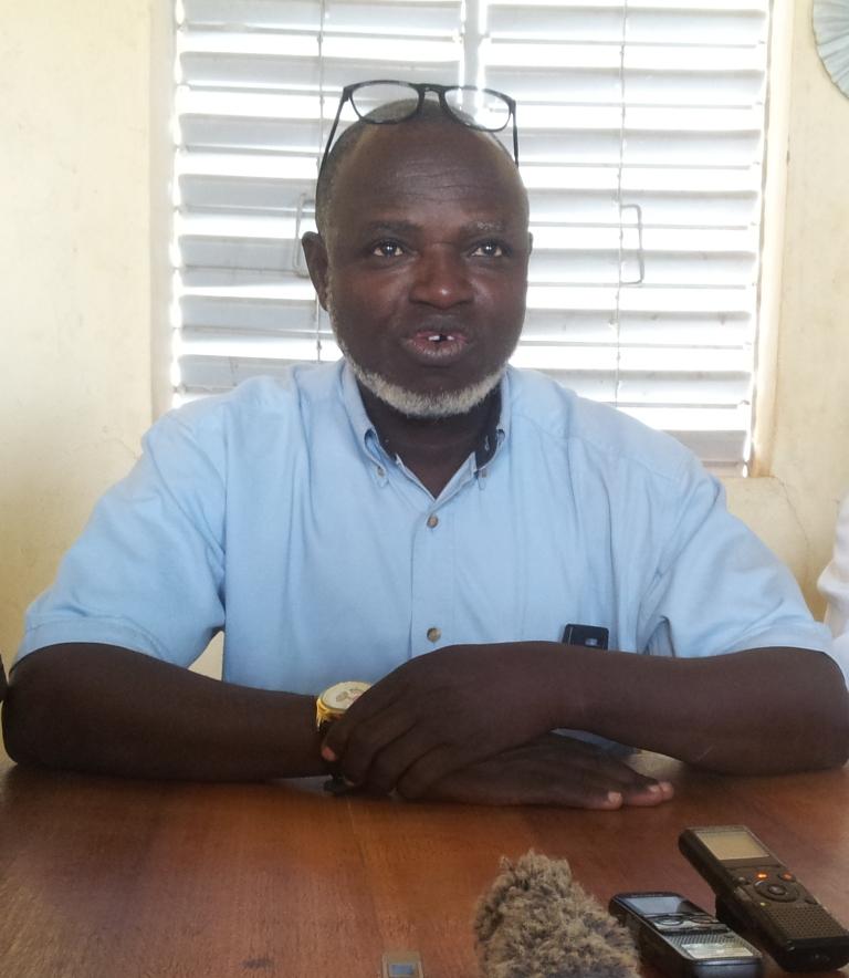 Adama Bantango, Président de l'Union national des groupements de producteurs de riz de Bagré