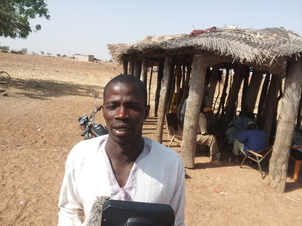 Adamou Boundaogo, habitant de Bagré village