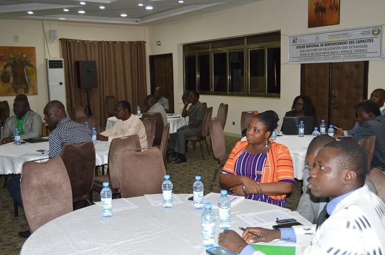 Les participants à l'atelier national sur les accords de facilitation des échanges